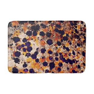 Yellow daisy flower floral pattern digital art bathroom mat