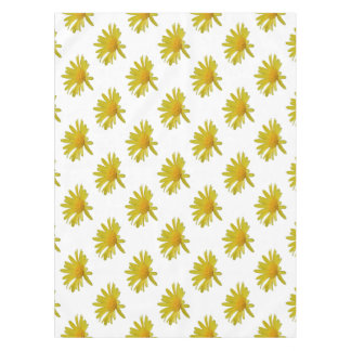 Yellow Daisy Flower Isolated Tablecloth