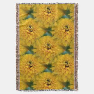 Yellow Daisy Flower Nature Art Pattern Throw