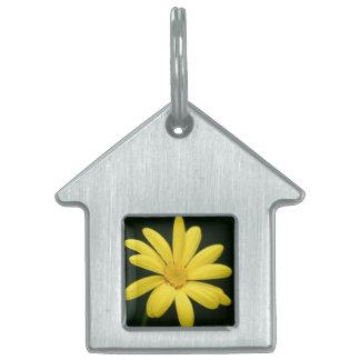 Yellow Daisy flower Pet ID Tag