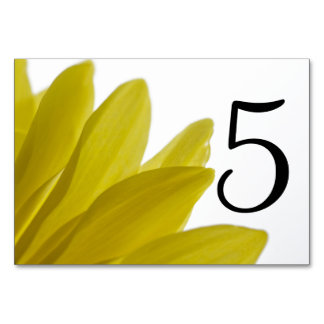 Yellow Daisy Flower Petals Table Numbers