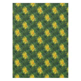 Yellow Daisy Flower With Garden Background Tablecloth