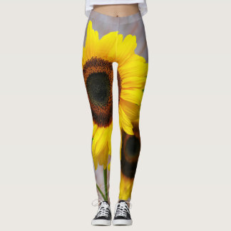 Yellow daisy leggings