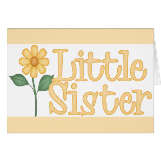 Yellow Daisy Little Sister Note Card