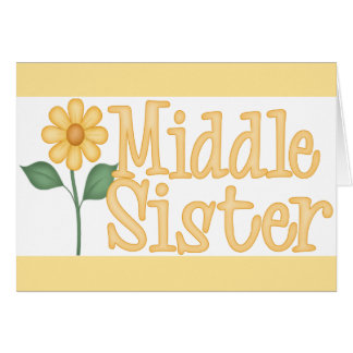 Yellow Daisy Middle Sister Greeting Card