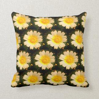 Yellow Daisy pattern Throw Pillow