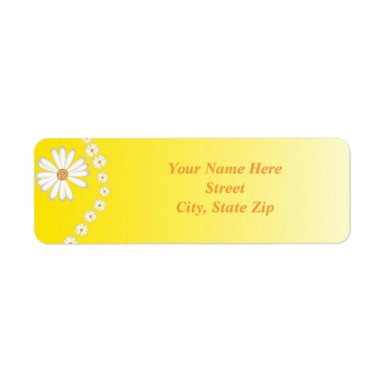 Yellow Daisy Return Address Label