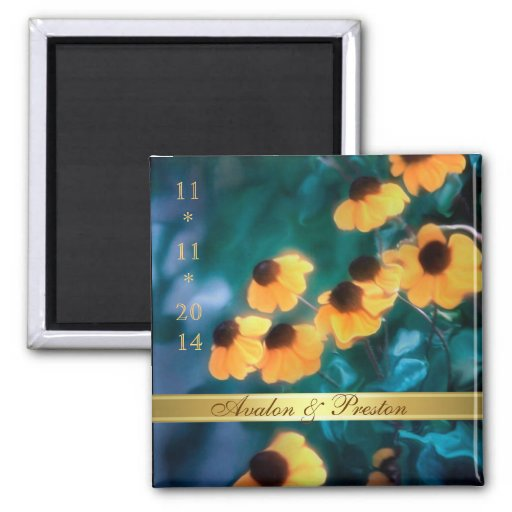 Yellow Daisy Save The Date Magnet