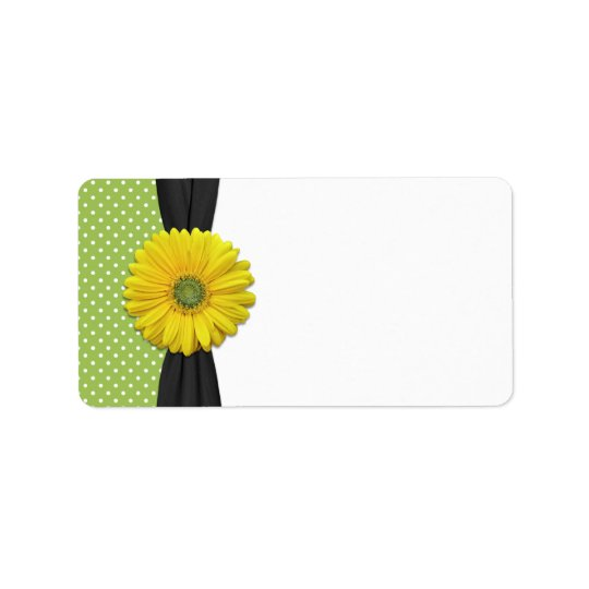 Yellow Daisy Wedding Blank Address Label