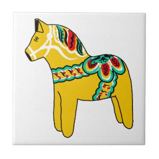 Yellow Dala Horse Tile