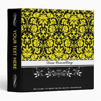 Yellow Damask Binders