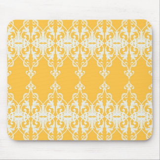 Yellow Damask Mouse Pad