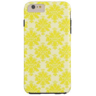 Yellow Damask Pattern iPhone 6 plus tough case