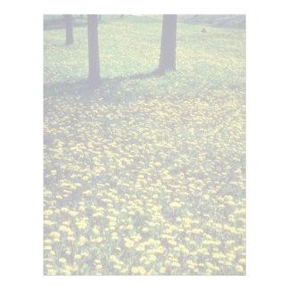 yellow Dandelion carpet flowers Letterhead