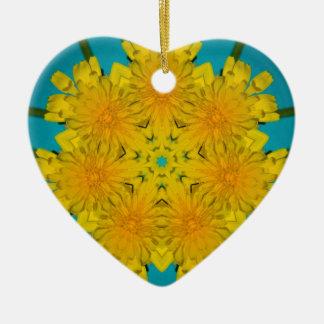 Yellow Dandelion Nov 2012 Ceramic Ornament