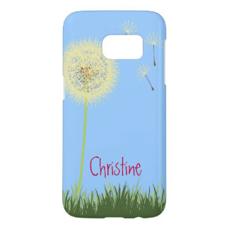 Yellow Dandelion Wishes Samsung Galaxy S7 Case