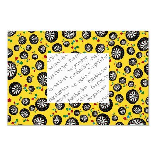 Yellow dartboard pattern photo