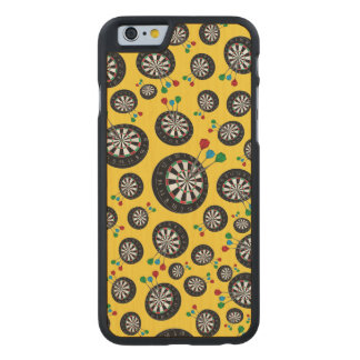 Yellow dartboard pattern carved® maple iPhone 6 case