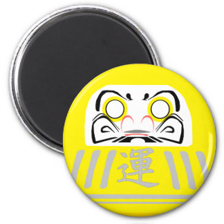YELLOW Daruma is for security and protection GOALS Magnet