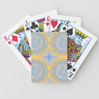 Yellow dawn bicycle playing cards