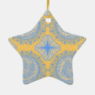Yellow dawn ceramic ornament