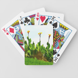 Yellow Day Lilies Bicycle Playing Cards