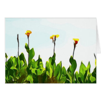Yellow Day Lilies Card