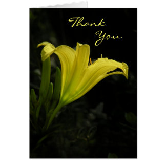 Yellow Day Lily Thank You Card