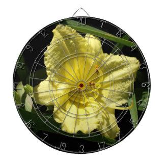 Yellow Daylily Flower Hemerocallis Dartboard