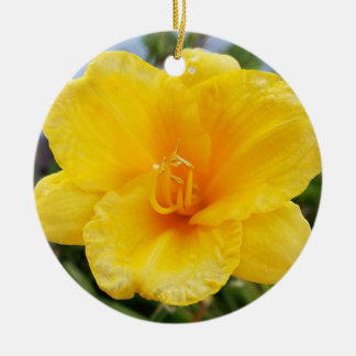 Yellow Daylily Ornament