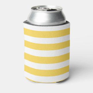 Yellow Deckchair Stripes Can Cooler