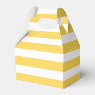 Yellow Deckchair Stripes Favor Box
