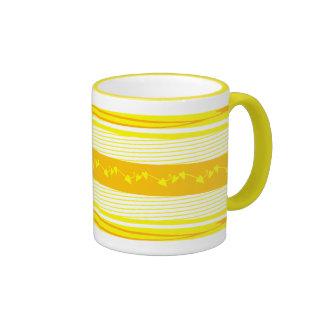 Yellow Decorative Coffee Mug