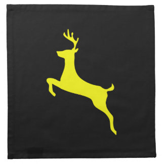 Yellow Deer Silhouette Printed Napkins