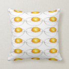 Yellow Deviled Egg Eggs Picnic Food Cooking Foodie Throw Pillow
