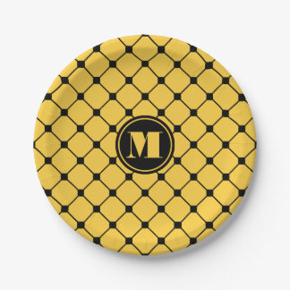 Yellow Diamond Paper Plates
