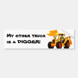 Yellow Digger Bumper Sticker
