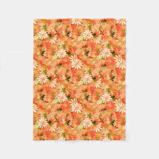 Yellow Digital Daisies Fleece Blanket