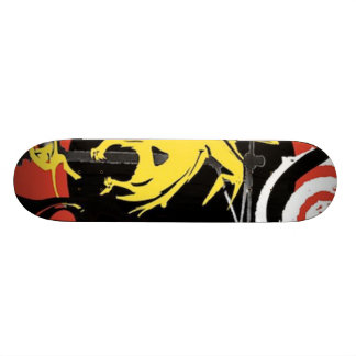 Yellow dinosaur design on a skateboard!