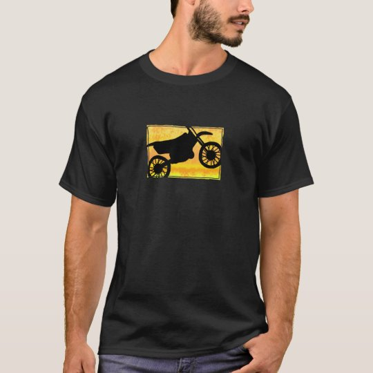 Yellow Dirt Bike Silhouette TeeShirt T-Shirt