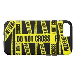 Yellow Do Not Cross Crime Scene Tape Danger Areas iPhone 7 Case