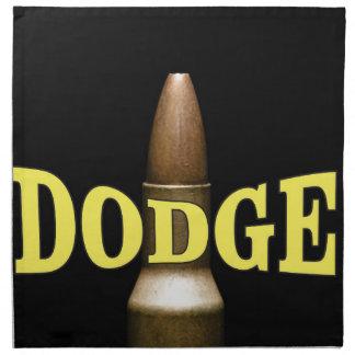 yellow dodge bullet baby napkin