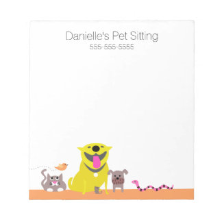 Yellow Dog & Cat Fish Snake Mouse Notepad