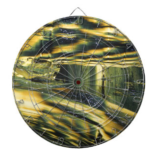 Yellow Dog Dartboard With Darts
