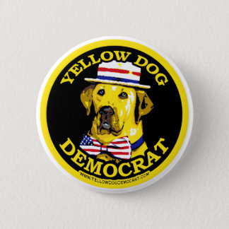 Yellow Dog Democrat Black  Button
