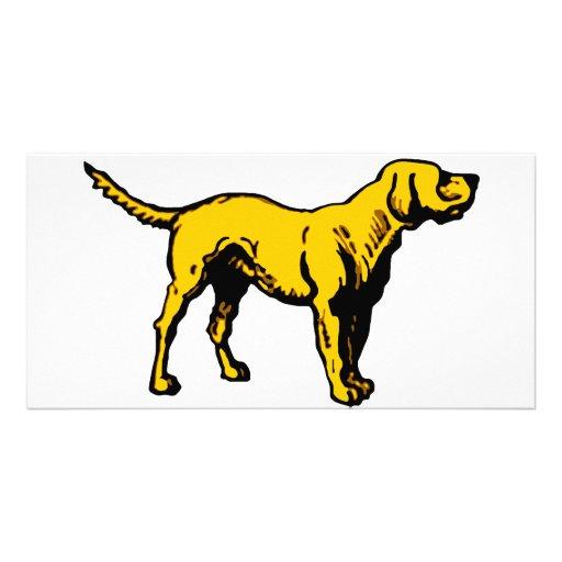 Yellow Dog Custom Photo Card