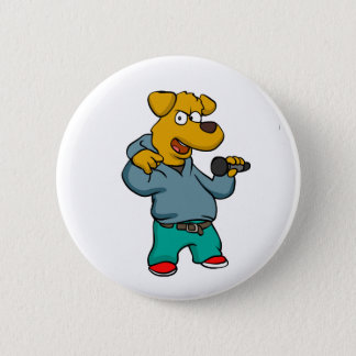 Yellow dog rapper 2 inch round button