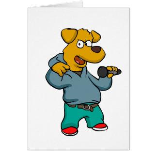 Yellow dog rapper card