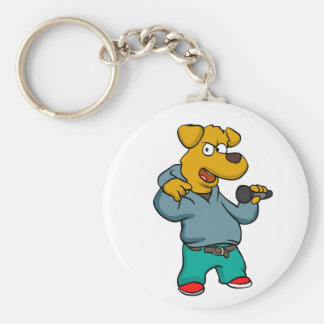 Yellow dog rapper keychain