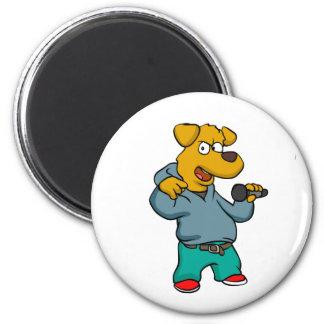 Yellow dog rapper magnet